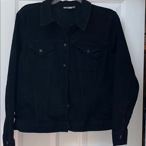 Style &Co black denim jean jacket size 18W